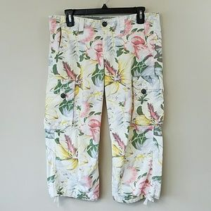 Lucky Brand Tropical Floral Print Capri Pants